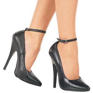 Nero Vernice 15,5 cm DOMINA-431 scarpe décolleté con tacchi bassi