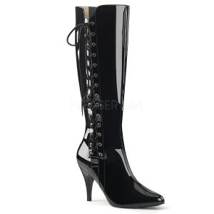 Nero Verniciata 10 cm DREAM-2026 grandi taglie stivali donna