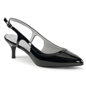 Nero Verniciata 6 cm KITTEN-02 grandi taglie scarpe décolleté