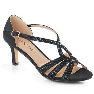 Nero scintillare 6,5 cm Fabulicious MISSY-03 sandali tacchi a spillo