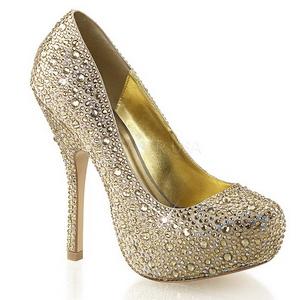 Oro Pietre Scintillanti 13,5 cm FELICITY-20 Scarpe donna tacco altissime