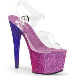 Porpora scintillare 18 cm Pleaser ADORE-708OMBRE scarpe con tacchi da pole dance
