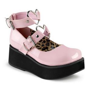 Rosa 6 cm SPRITE-02 scarpe lolita gotico calzature con suola spessa