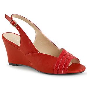 Rosso Ecopelle 7,5 cm KIMBERLY-01SP grandi taglie sandali donna