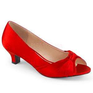 Rosso Raso 5 cm FAB-422 grandi taglie scarpe décolleté