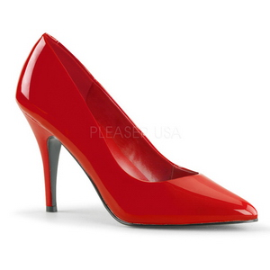 Rosso Vernice 10 cm VANITY-420 Scarpe Décolleté Tacco Basso