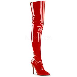 Rosso Vernice 13 cm SEDUCE-3010 Stivali sopra il ginocchio