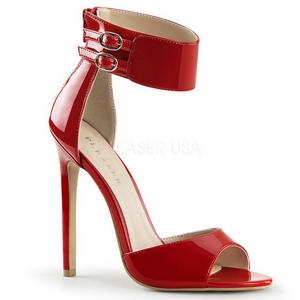 Rosso Vernice 13 cm SEXY-19 Sandali da Sera con Tacco Alto