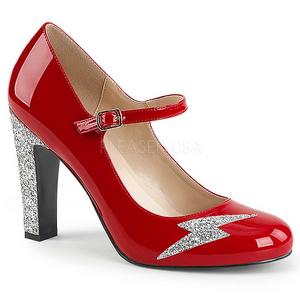 Rosso Verniciata 10 cm QUEEN-02 grandi taglie scarpe décolleté