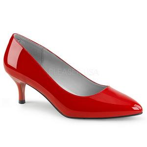 Rosso Verniciata 6,5 cm KITTEN-01 grandi taglie scarpe décolleté