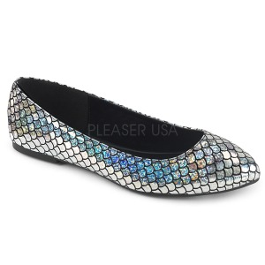 Silver MERMAID-21 ballerinas flat womens shoes
