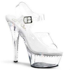 Transparent 15 cm Pleaser KISS-208LS High Heels Platform