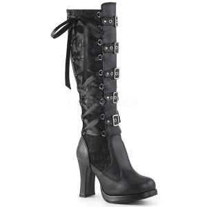 Vegano 10 cm CRYPTO-106 stivali donna con fibbie e plateau alto
