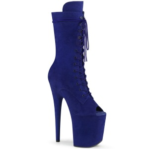 Vegano 20 cm FLAMINGO-1051FS stivali spuntate con tacco e piattaforma blu