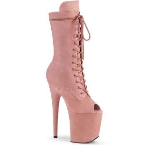 Vegano 20 cm FLAMINGO-1051FS stivali spuntate con tacco e piattaforma rosa