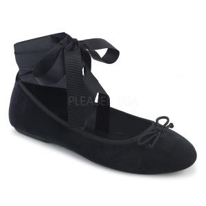 Velluto DEMONIA DRAC-03 ballerine scarpe basse donna