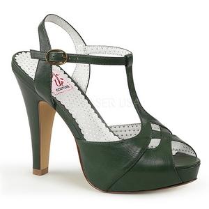 Verde 11,5 cm retro vintage BETTIE-23 Sandali da Sera con Tacco Alto
