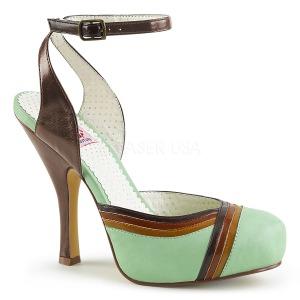Verde 11,5 cm retro vintage CUTIEPIE-01 Pinup sandali con plateau nascosto