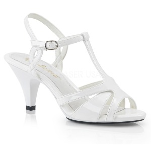 White 8 cm BELLE-322 transvestite shoes