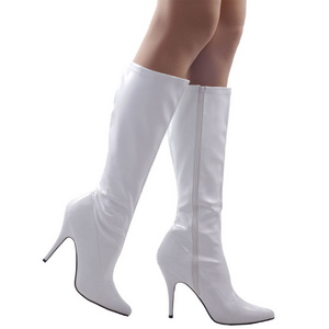 White Patent 13 cm Pleaser SEDUCE-2000 Women Knee Boots