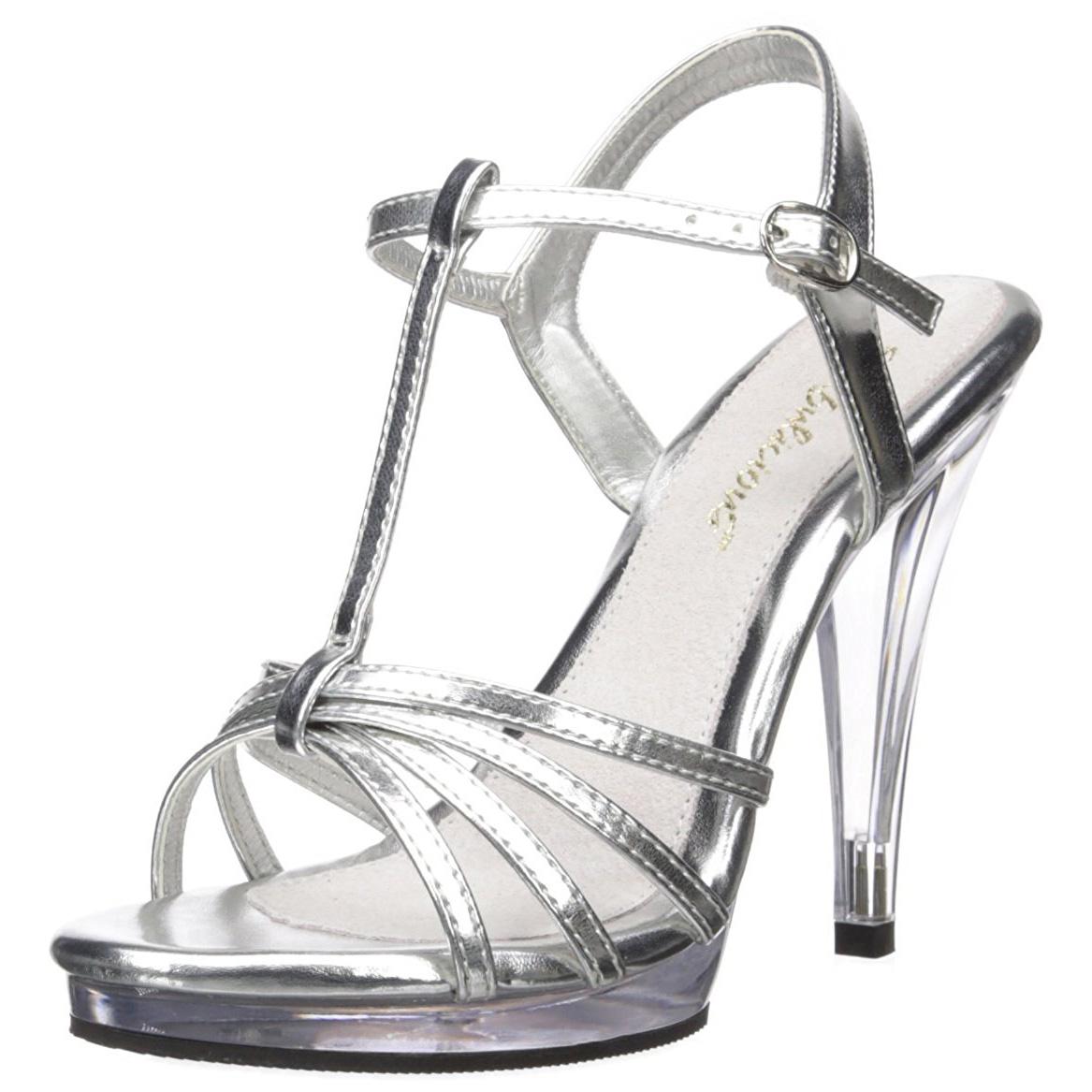 Argento Vernice 12 cm FLAIR 420 scarpe tacco alto numeri grandi per uomo