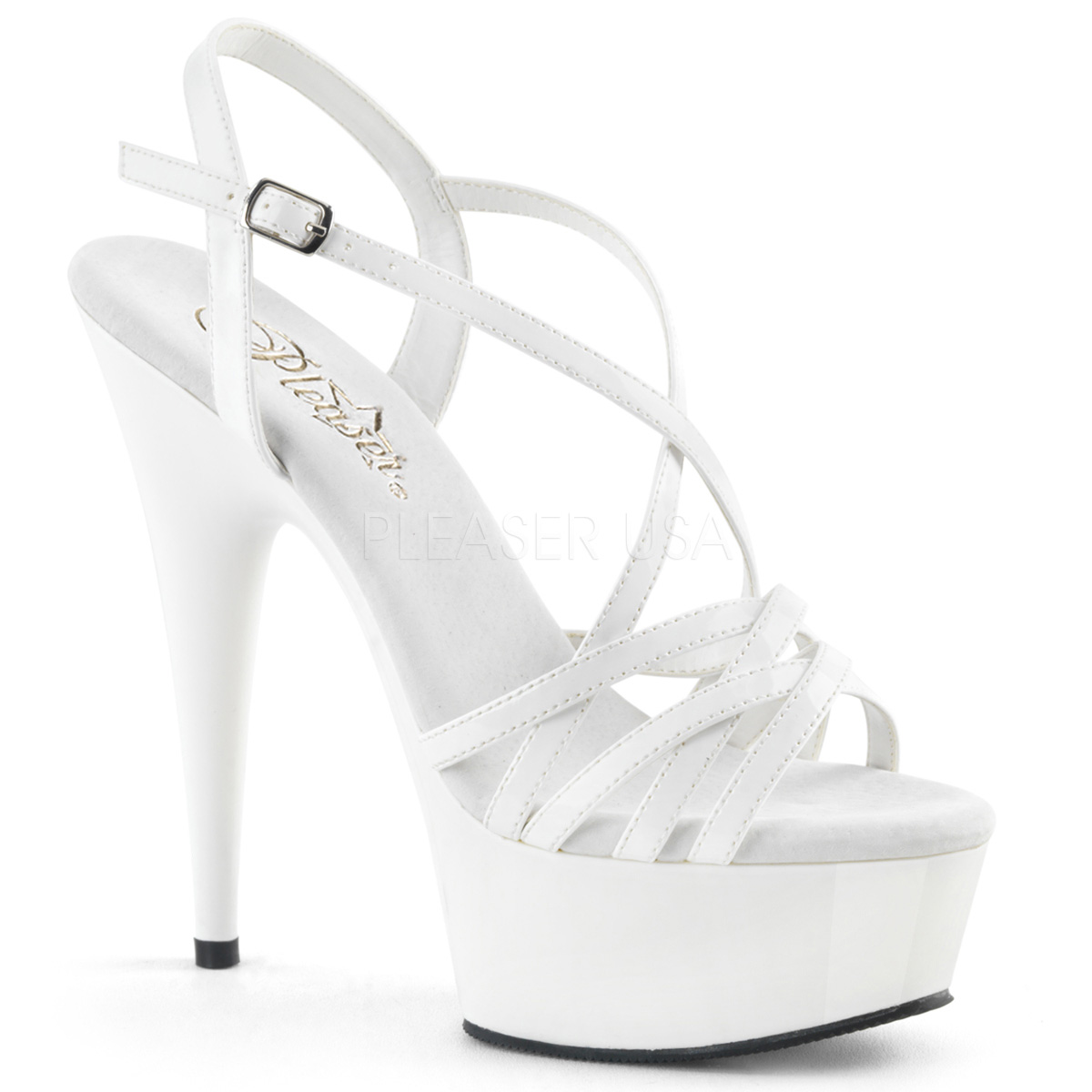 Bianco Bianco Bianco 15 cm Pleaser DELIGHT 613 Sandali Donna con Tacco 6f64db