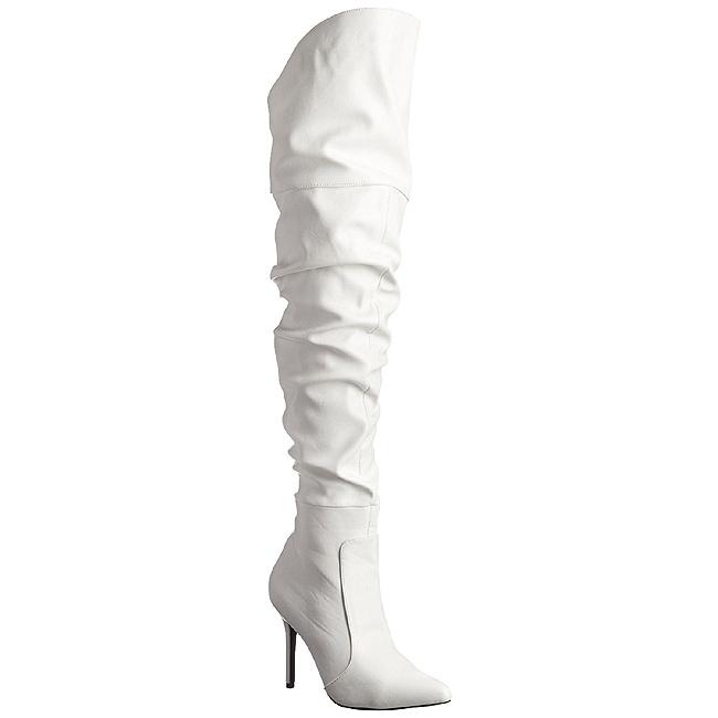 Bianco Ecopelle 10 cm CLASSIQUE 3011 Stivali alti e sopra al