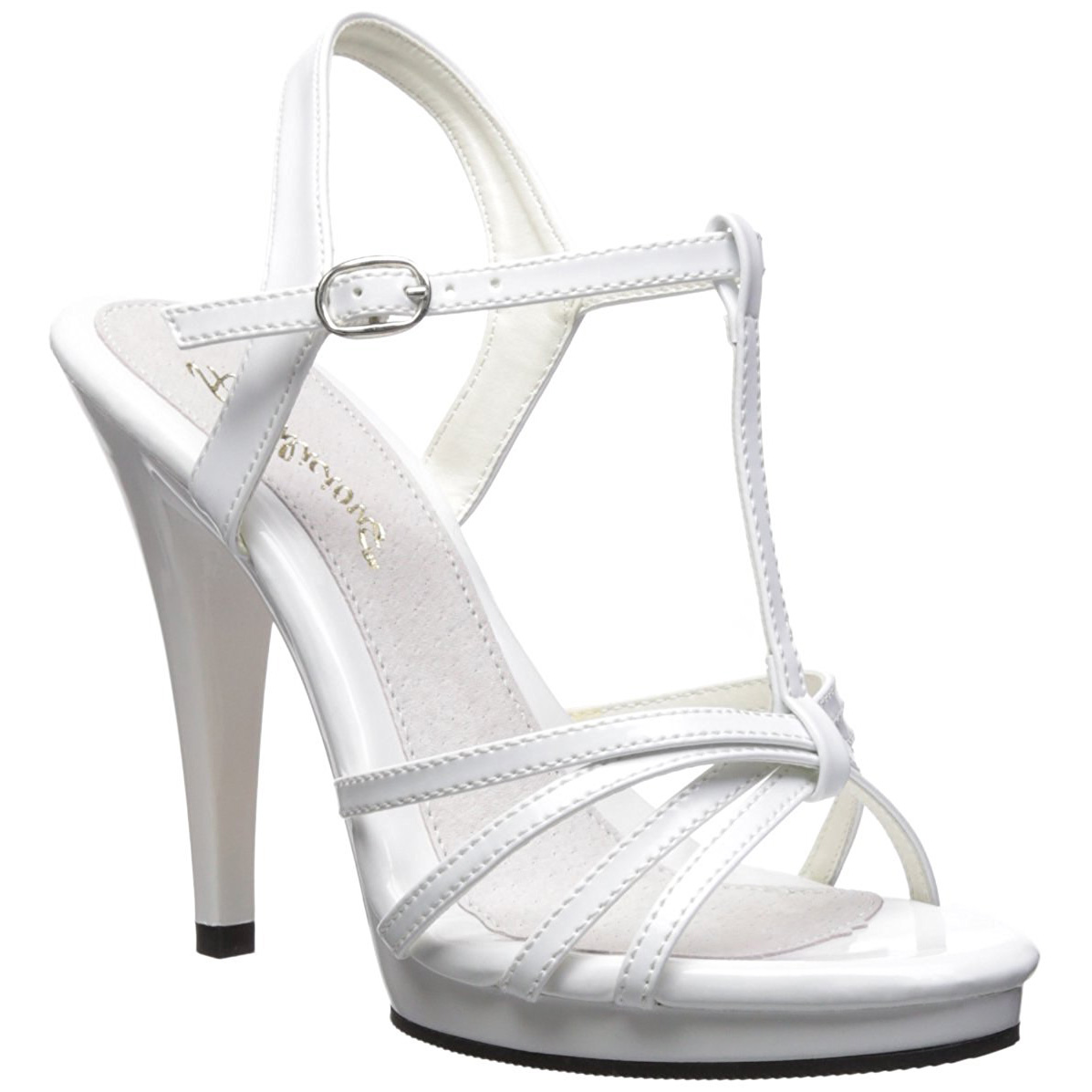 Bianco Donna 12 Con Cm Vernice 420 Ecdxorb Tacco Sandali Flair VUzMpqS