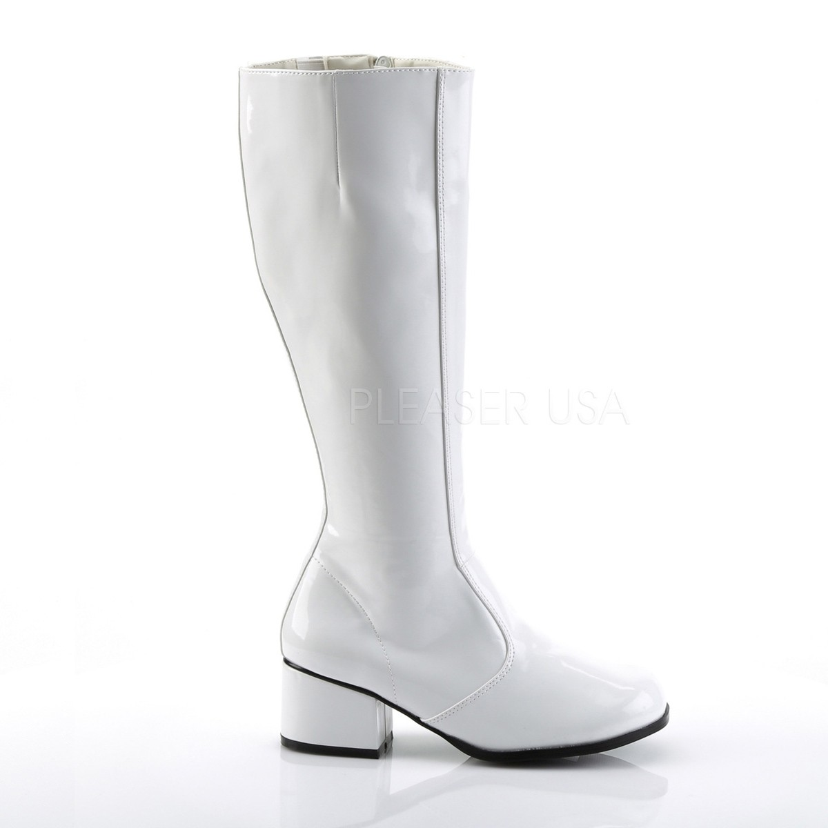 Bianco Verniciato 5 cm FUNTASMA GOGO Stivali Donna