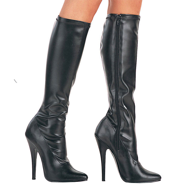 cfbb565fc4f Black Pu 15 cm DOMINA-2000 High Heels Women Boots