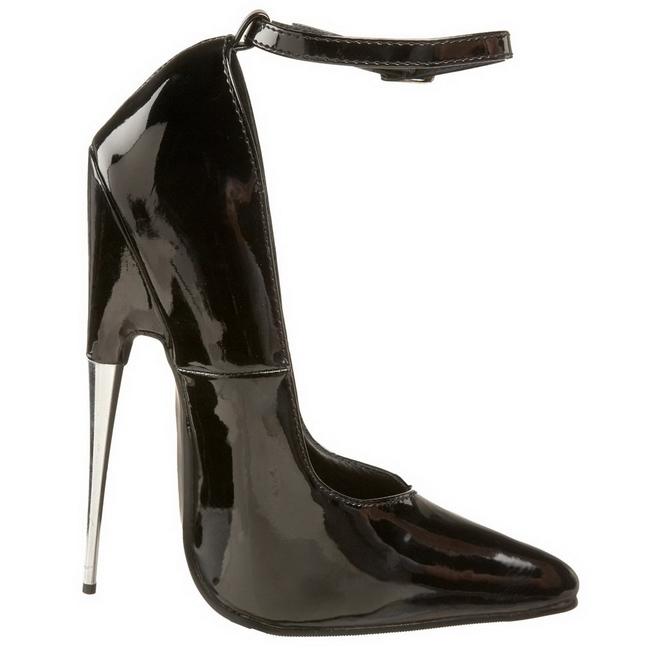 Black Shiny 15 cm SCREAM 12 Fetish Pumps Women Shoes