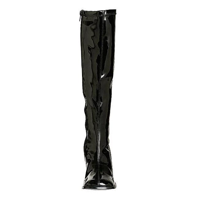 9dcb04421f4 Black Shiny GOGO300 B FUNTASMA big size Womens Boots High Heeled ...