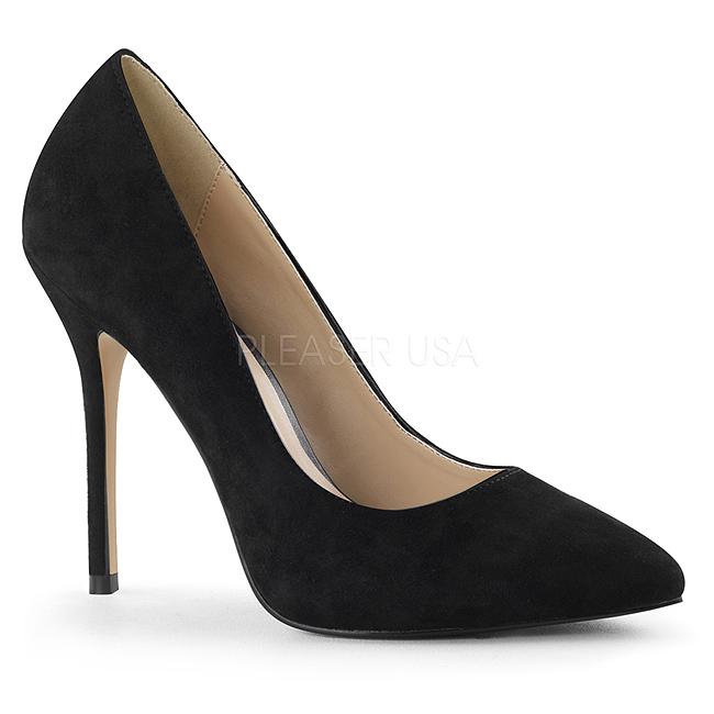 cf73df466b2 Black Suede 13 cm AMUSE-20 Pumps High Heels for Men