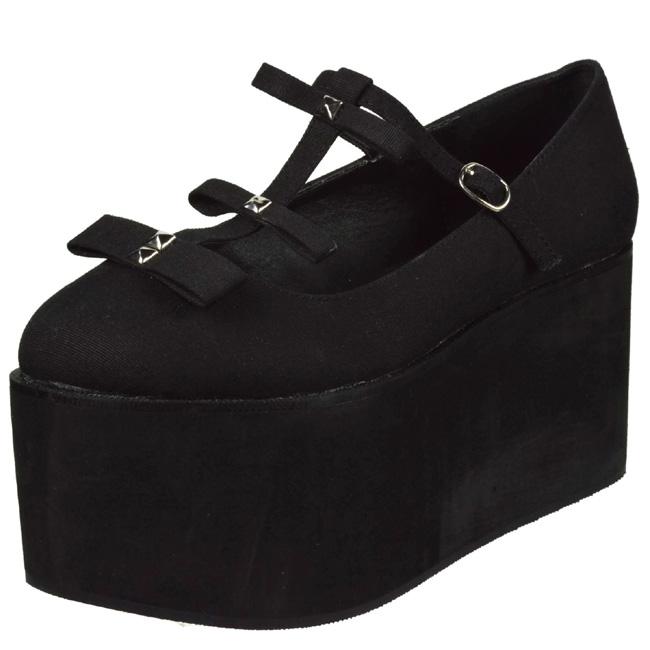 Gothic Canvas 08 Platform Click 8 Lolita Shoes Black Cm 3jLAR54