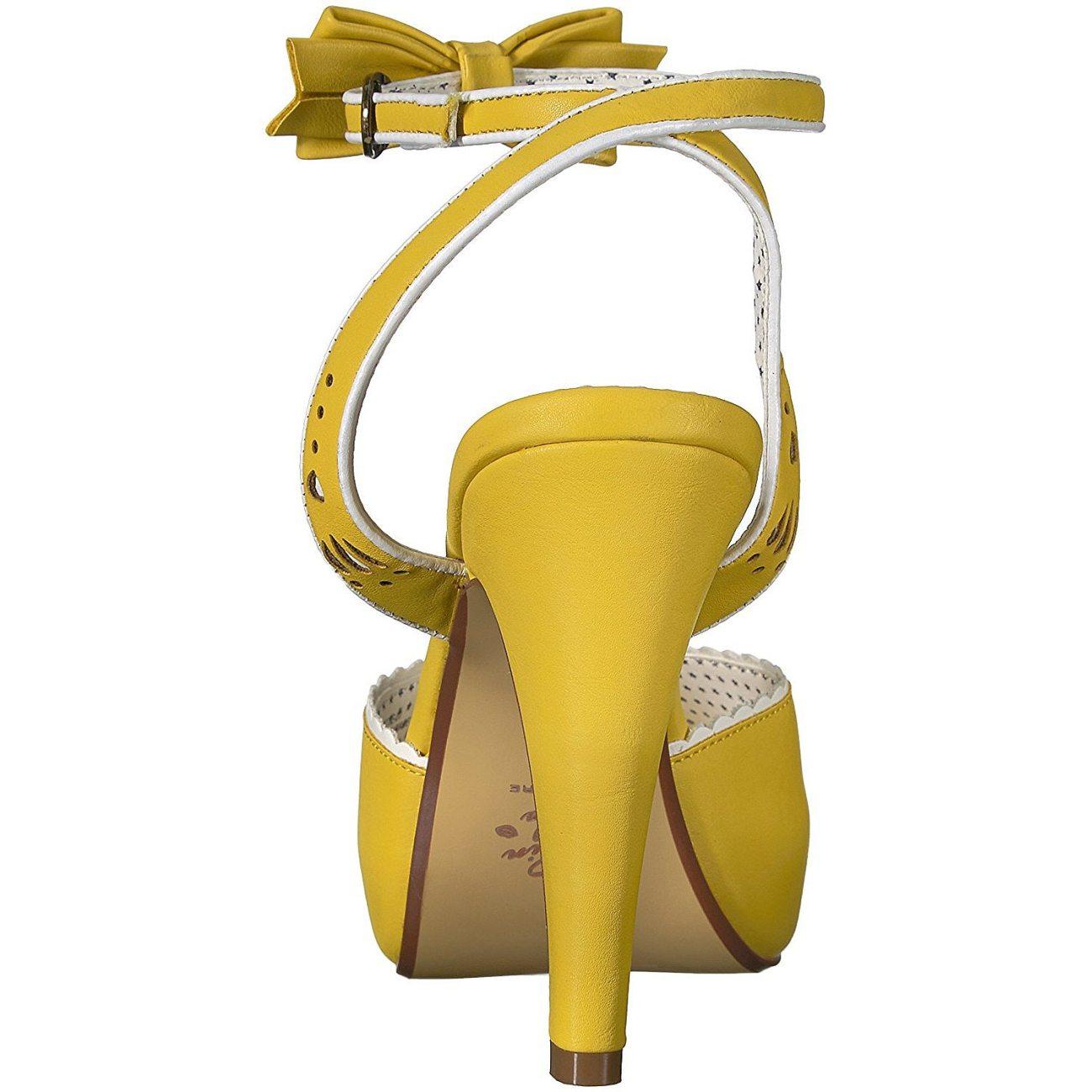 Giallo cm sandali spillo BETTIE 5 a 01 11 Pinup tacchi qzGVSULMp