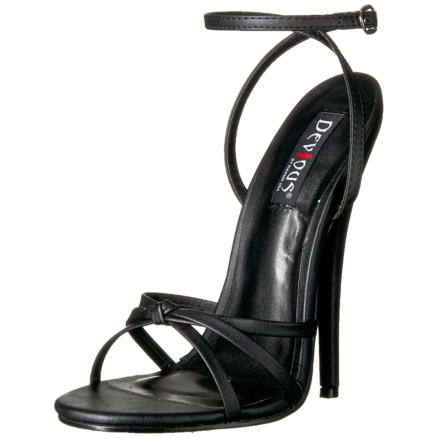 Leatherette 15 cm Devious DOMINA 108 high heeled sandals