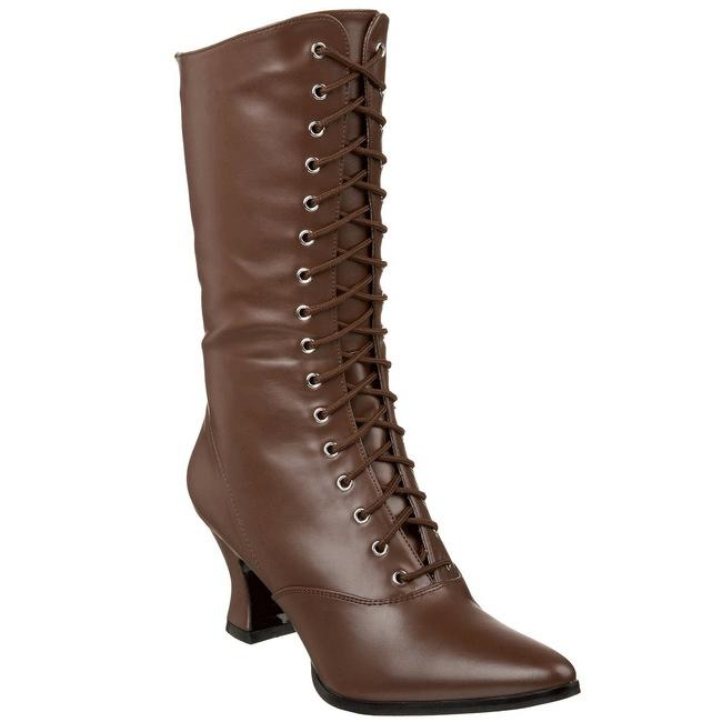 prezzo più economico nuova collezione buona qualità Marrone 7 cm VICTORIAN-120 Stivaletti Stringati Tacco Alto Donna