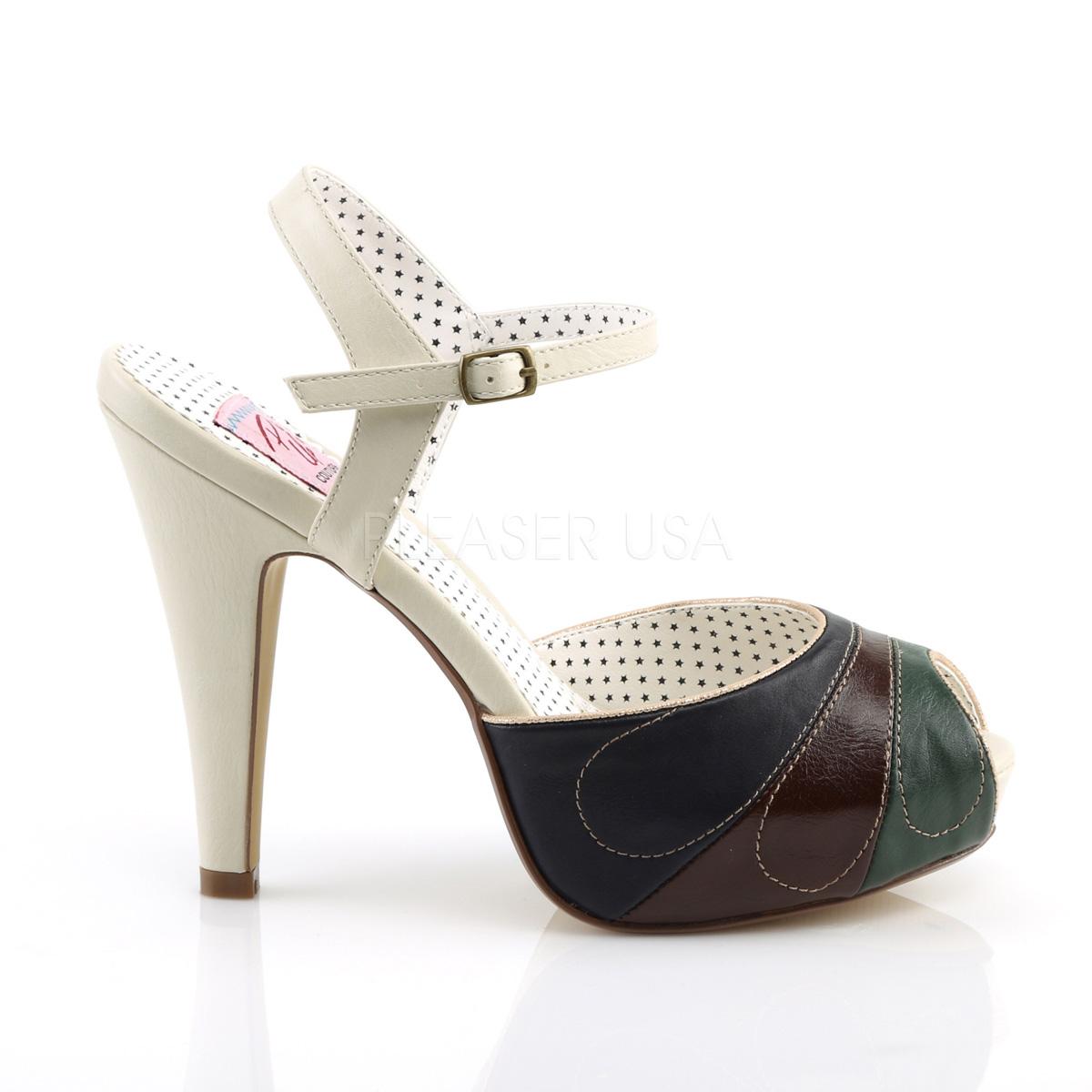 11 Pinup Platform Cm Bettie Sandals Multicolored With 5 27 Hidden iPkOXuTZ