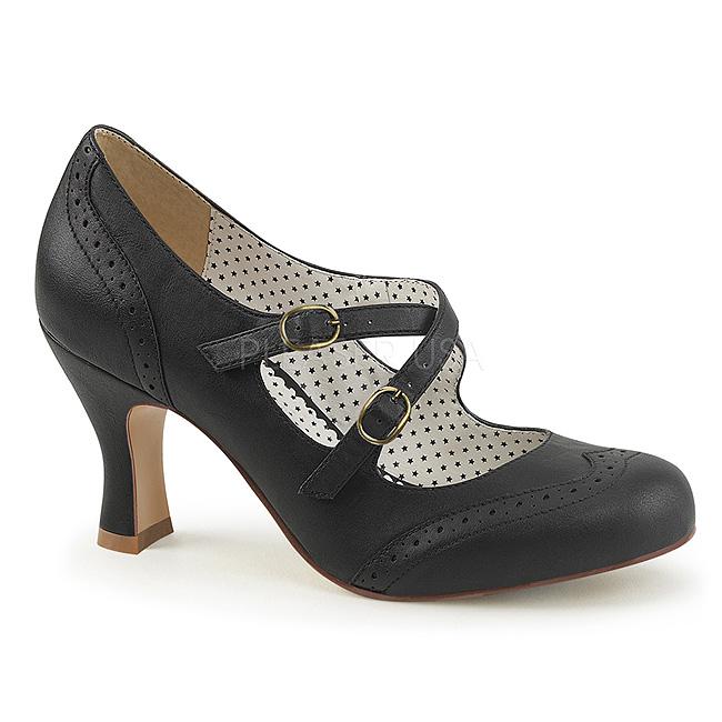 Nero 7,5 cm tacchi FLAPPER 35 Pinup scarpe décolleté con tacchi cm bassi a84ae8