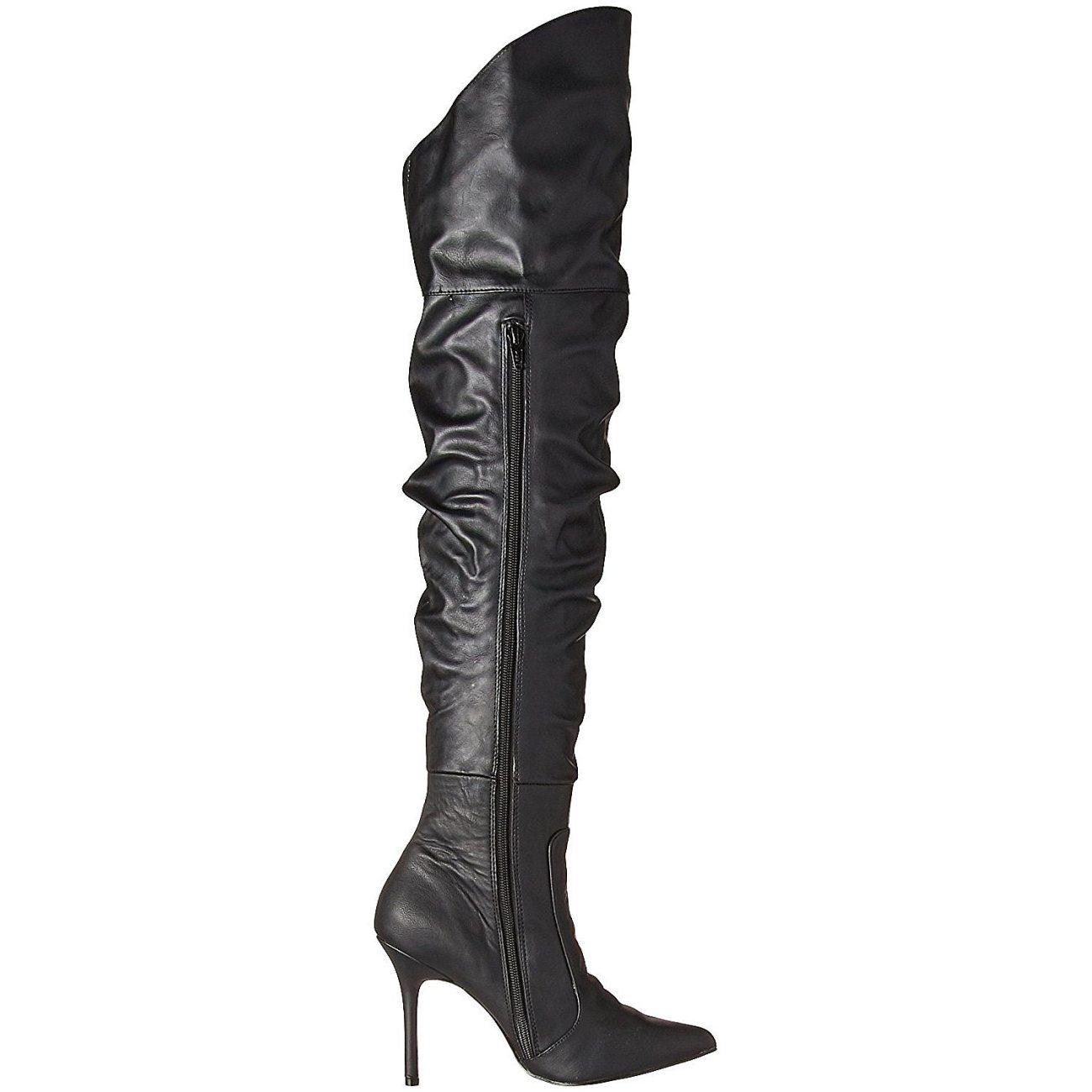 Nero Ecopelle 10 cm CLASSIQUE 3011 Stivali alti e sopra al