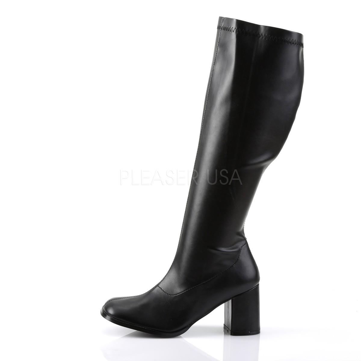 in vendita 2f2c9 6dda4 Nero Ecopelle 7,5 cm GOGO-300WC Stivali da donna con gambale largo