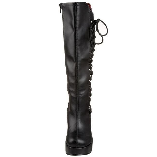 Nero 13 cm BRAVO 100 Stivali Donna con Zeppa Altissimo