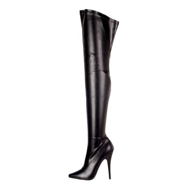 Devious DOMINA 3000 Stivali Donna Tacco 15 Nero Spedizione