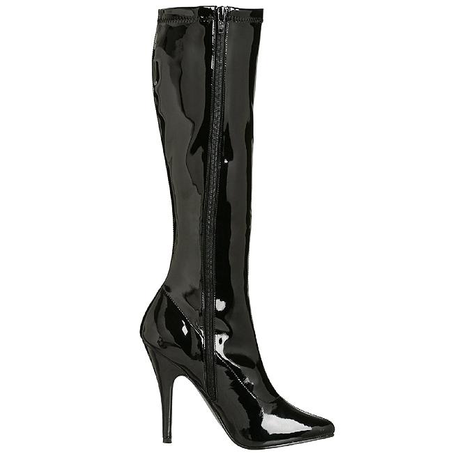 Nero Vernice 13 cm SEDUCE 2000 Stivali Donna da Uomo