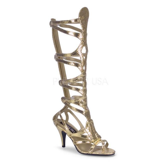 Cm Donna Gladiatore Goddess Piatti 9 Da Al Oro 12 Ginocchio Sandali 8OwPXkn0