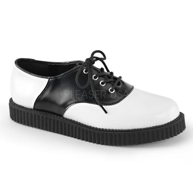 separation shoes 744ed 13b73 Pelle 2,5 cm CREEPER-606 Scarpe Creepers da Uomo Plateau