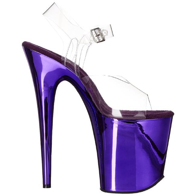 Flamingo Chrome Heels 20 Purple High 808 Cm Platform xWodBreC