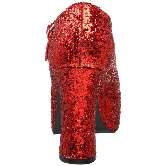 38b25e353b8 Red Glitter 11 cm MARYJANE-50G Platform Pumps Mary Jane