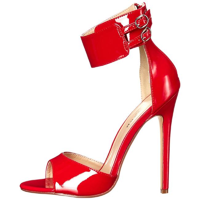 Cm Vernice Sexy Da Rosso Alto 13 Con Sera Tacco Sandali 19 nPOwk0