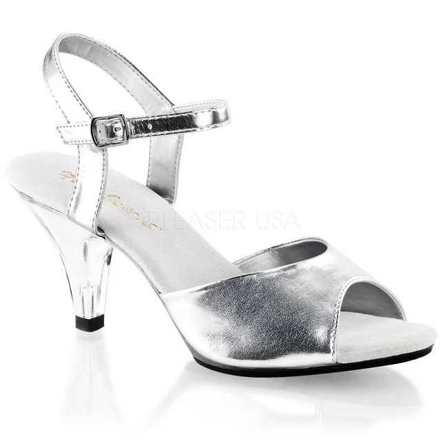 Silver Matte 8 Cm Belle 309 Womens High Heel Sandals